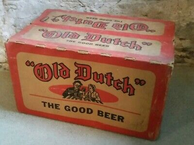 vintage old dutch beer case