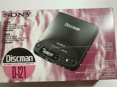 Vintage Sony D-121 Discman  with ac cord Original packaging