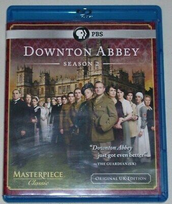Downton Abbey: Complete Second Season (Blu-ray, 2012, 3-Disc Set)Great Condition