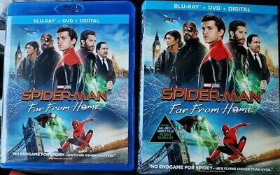 Spider-man: Far From Home (Blu-ray and DVD, 2019) Tom Holland - No Digital
