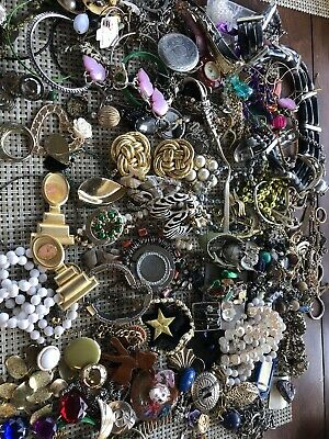 JUNK JEWELRY LOT for Crafts 4 Pound Box