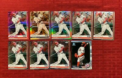 Victor Robles 2019 Topps Chrome Refractor & Base Lot Of 6 Pink Sepia & Base Ref
