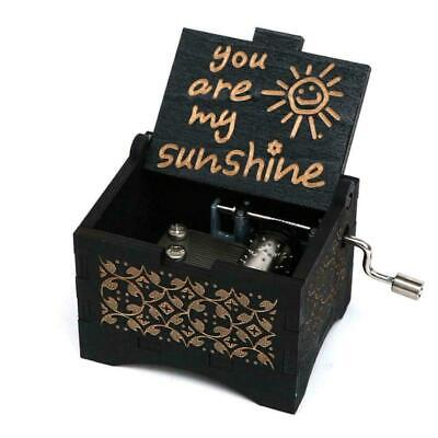 Vintage Carved Music Box Gift For Daughter friend GF -You Are My Sunshine F7G3