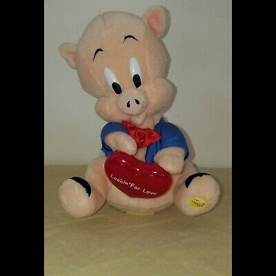 """Singing Porky Pig """"Lookin for Love"""" Animated Looney Tunes Gemmy 2003"""