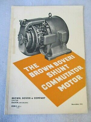 1933 Catalogue The Brown Boveri Shunt Commutator Motor, 12 pages