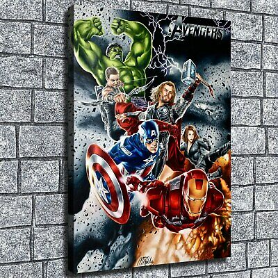 """12""""x16""""Avengers poster HD Canvas print Home decor Room Wall Art Painting Posters"""