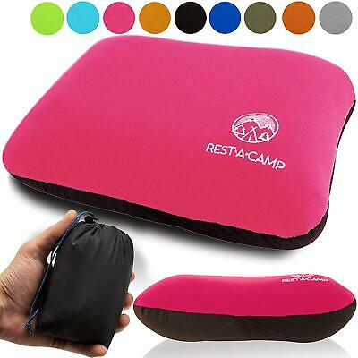 Inflatable Camping Travel Pillow Ultralight Best Compact Backpacking Pillow Pink