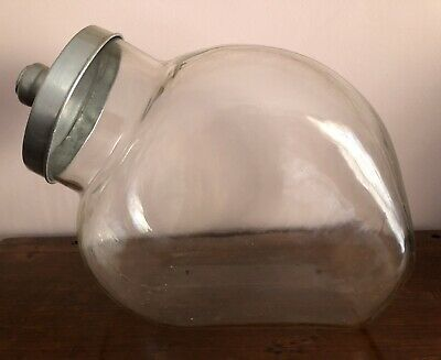 Vintage Large Counter Top Glass Jar
