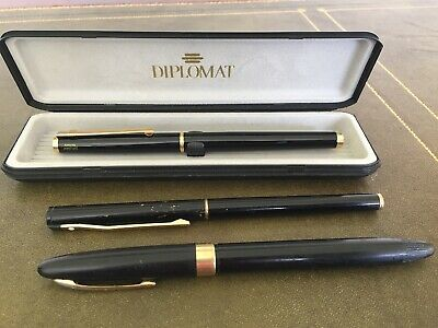 Fountain Pen Lot. Vintage Sheaffer 14k Nib, Diplomat Boxed , Other