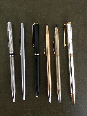 Lot of 6 Ball Point Pens. Aurora, Parker, Gucci, Cross and Colibri