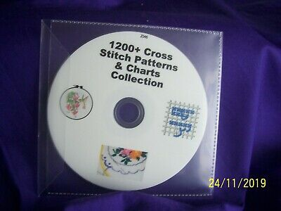 1200 + cross stitch patterns and charts C.D.Rom