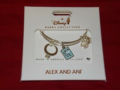Disney Parks Mickey Mouse Love Silver Ring Bracelet by Alex and Ani New with Tag