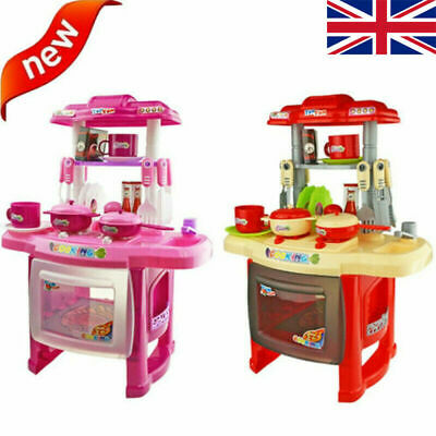 Electronic Kitchen Cooking Toy Toddler Kids Cooker Play Set Kit Light & Sound