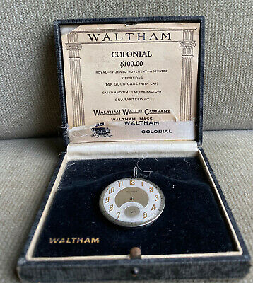WALTHAM - ROYAL - 12s 17j high Grade pocket watch Movement with Box 1924