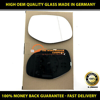 Left passenger Wide Angle side mirror glass for Porsche Cayenne 2007-09 heated