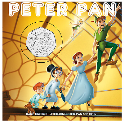 50p IOM 2019  PETER PAN BRAND (FLYING) UNCIRCULATED   GREAT GIFT IDEA