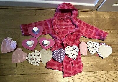 Girls Heart Dressing Gown And Bedroom Accessories Pink