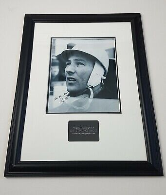 Sir Stirling Moss Hand Signed And Framed Display