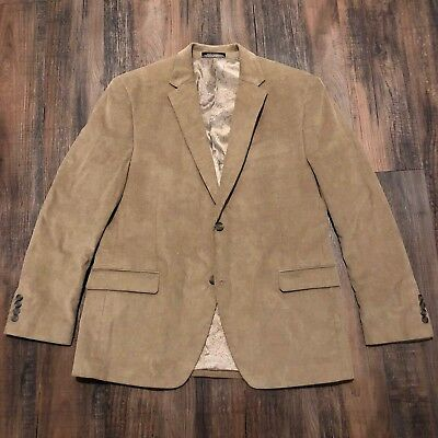 Chaps Ralph Lauren Men's Tan/Khaki Corduroy Two Button Blazer • Size 42R