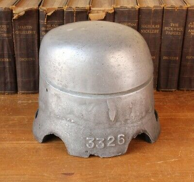 Vintage Industrial Aluminium Hat Form Block. Antique Mould Shop Display Prop
