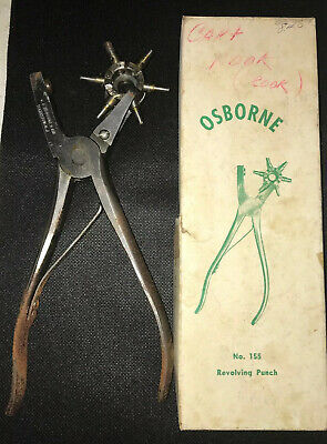 Vintage Osborne No.155 Revolving Leather Punch Tool with Box