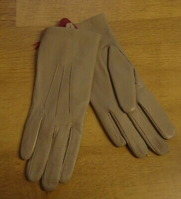 Dents Ladies Putty Soft Leather Gloves Knitted Lining Size 6.5 New