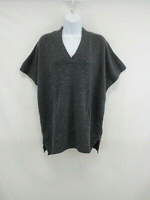 Pure Amici Women's 100% Cashmere Loose Short Sleeve Sweater Size XS #CASH451