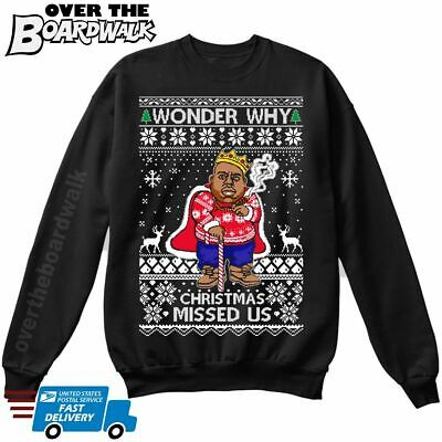 Wonder Why Christmas Missed Us   Biggie Smalls Cane   Ugly Christmas Sweater