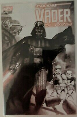 Star Wars Vader Down Comic Book #1 Variant Edition Marvel BAM Box Exclusive COA