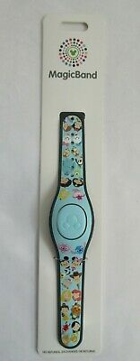 Disney Parks World Of Disney Light Blue Emoji Characters Magic-Band UNLINKED NEW