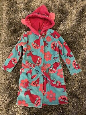 Girls Trolls Dressing Gown 3-4 Yrs