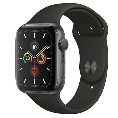 Apple Watch Series 5 44mm Space Grey with Black Sport Band GPS
