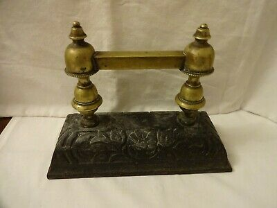 Antique Cast Iron & Brass Boot Shoe Scraper Height 19 cm x 25 cm Weight 2.1 kilo