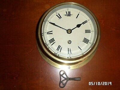 brass ships clock Astral 12236 made in Coventry Not working.