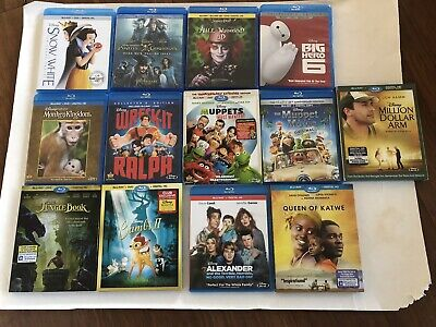 Lot Of 13 Disney Blu Ray Movies No Digital Codes