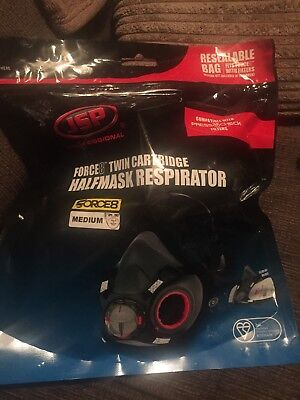 JSP Force 8 twin cartridge Halfmask Respirator With Valve & 1 Pack Of Filters