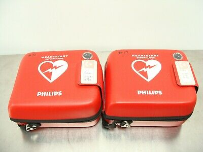 Lot of 2 - Philips HeartStart FRx AED W/ Case - No Batteries or Pads Included
