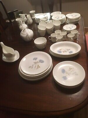 Vintage Wedgewood ICE ROSE Design DINNER SET Over 60 Pieces. EXCELLENT Condition