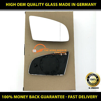 Audi A4 1997-/>2000 DRIVER SIDE Door//Wing Mirror Glass Blue Aspheric Heated/& Base