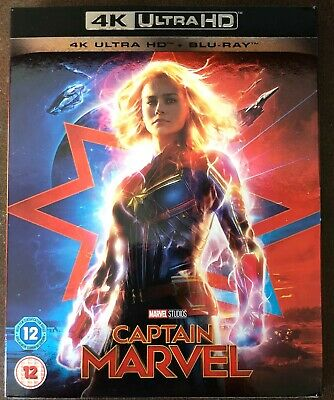 Marvel Studios Captain Marvel 4K Ultra Hd + Blu Ray Genuine Uk Immaculate Mint