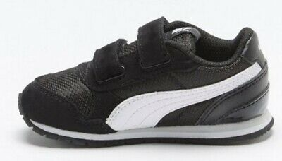 Infant Boys Girls Puma ST Runner V2 Mesh Trainers New With Box Navy Size 6