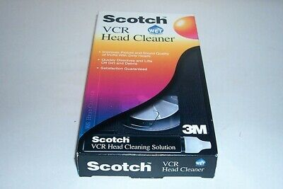 Scotch 3M Wet Vcr Head Cleaner Vhs Video Tape - Used?