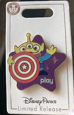 Play Disney Parks Pin Toy Story Midway Mania Little Green Men Alien New Retired