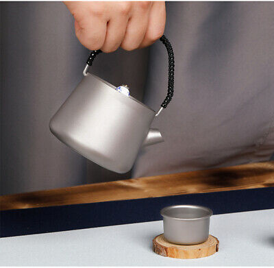 Pure Titanium Kung Fu Tea Container Hand pot Teapot cup With Filter Strainer