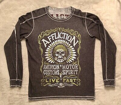 AFFLICTION Live Fast American Customs Reversible Thermal Large