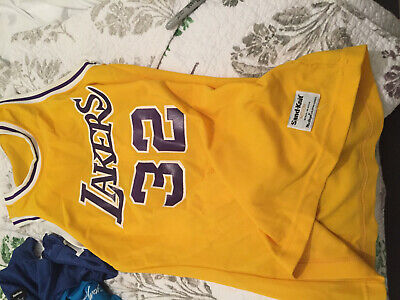 Magic Johnson vintage sand knit      Los angeles Lakers  jersey adult small