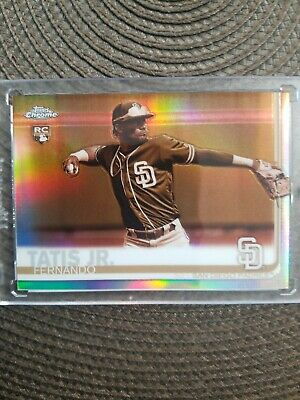 Fernando Tatis Jr. Sp 2019 Topps Chrome Sepia Refractor Rc #203. Perfect Card!
