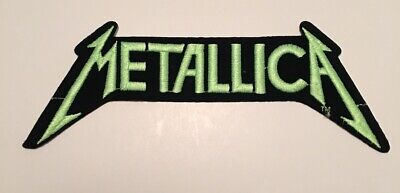 Vintage 1980's Metallica Embroidered Patch Logo Neon Green New Mint