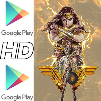 WONDER WOMAN ~ Digital HD Google Play UK+Ireland Code ~ DC Comics DCEU Gal Gadot