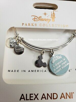"Disney Alex and Ani Disney Cinderella ""A Dream Is A Wish...Silver Bracelet ""NEW)"